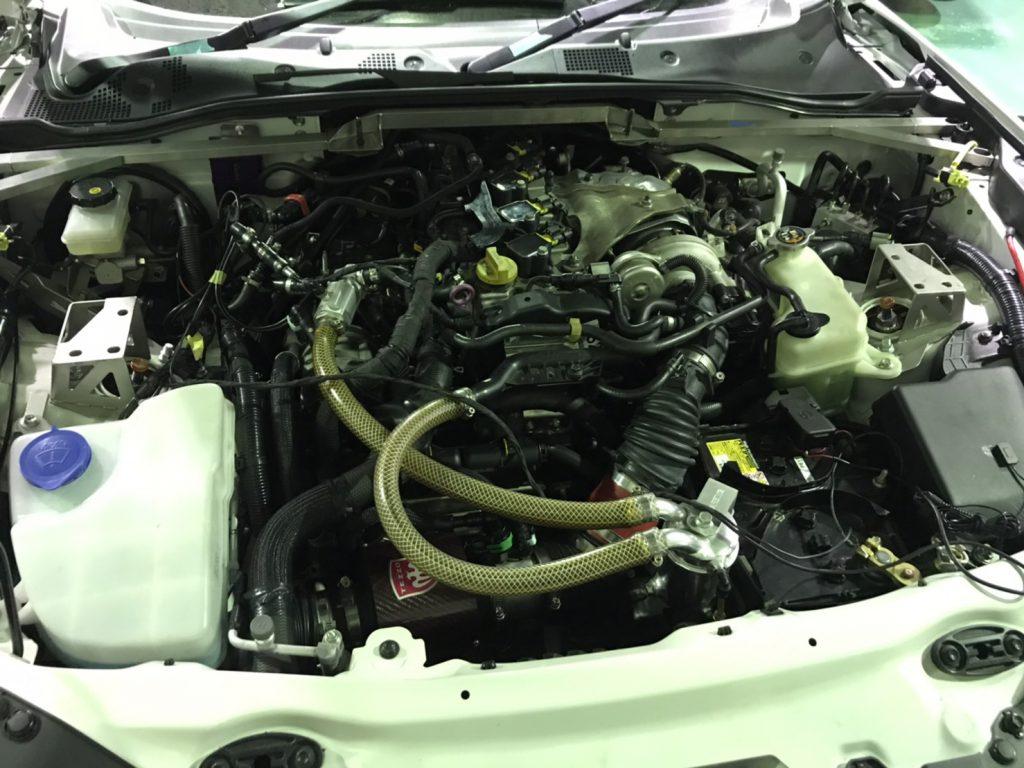 アバルト エンジンルーム復元完了